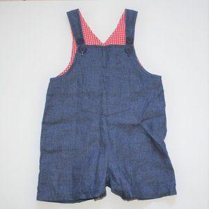 Vintage Gingham Linen Jumper/Romper 18 Months